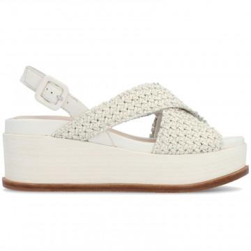 sandals woman elvio zanon en4603intreccio zefiro camelia 8666