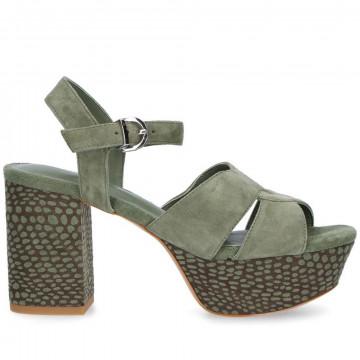 sandals woman jeannot gj513o camoscio bosco 8680
