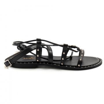 sandals woman les tulipes b04vacchetta nero 8715