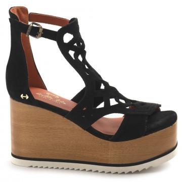 sandals woman belle vie via faggivelur forato nero 8724