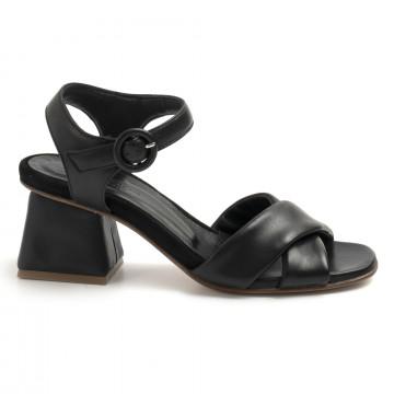 sandals woman lorenzo masiero 21111nappa abb nera 8640