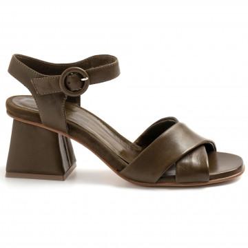sandals woman lorenzo masiero 21111nappa abb oliva 8747