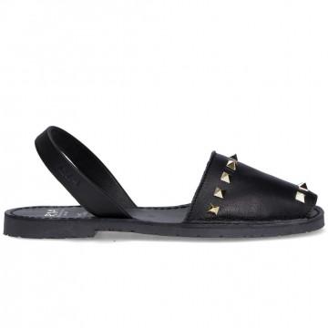 sandals woman ria menorca 27810velvet negro 8530