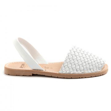 sandals woman ria menorca 27803woven bianco 8766