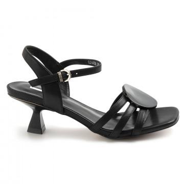 sandalen damen jeannot gj443a nappa nero 8781