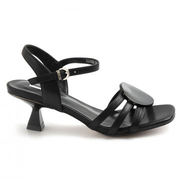 sandals woman jeannot gj443a nappa nero 8781