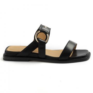 sandals woman viola ricci j154nero cuoio 8788