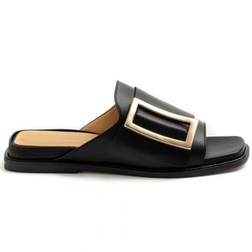 sandals woman viola ricci j150nero cuoio 8789