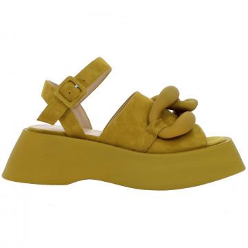 sandals woman giampaolo viozzi nora wcamoscio senape 8794