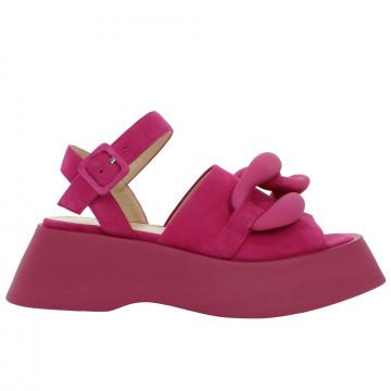 sandals woman giampaolo viozzi nora wcamoscio fuxia 8795
