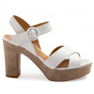 sandalen damen silvia rossini 237nappa bianca 8820