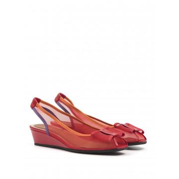 sandals woman sara 8147 rete rosso