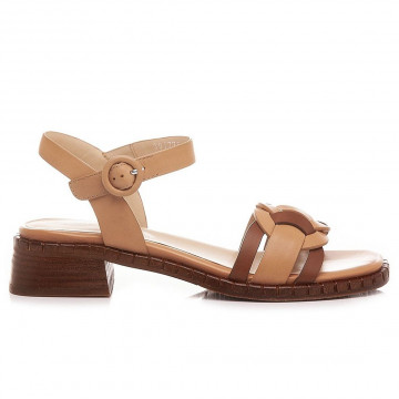 sandalen damen elvio zanon en1401xcuoio nude 8873