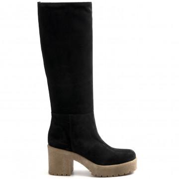 stiefel  boots damen les tulipes 3011crosta nero 8918
