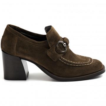 loafers woman zoe leeds 02camoscio olive 8898